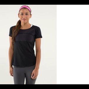 Tops - Lululemon athletic Black T shirt top size 12
